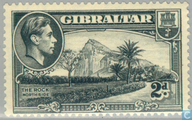 gibraltar george vi landscapes 1938