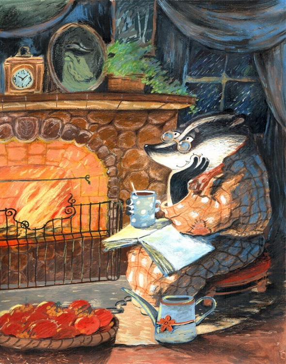 Winter badgers, Diana Lapshina