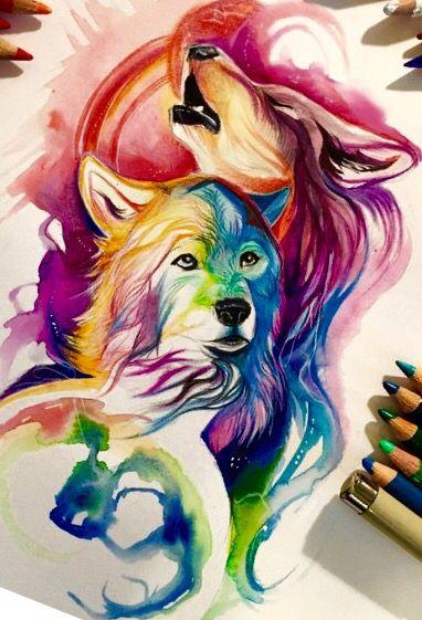 Best 25 Howling wolf tattoo ideas on Pinterest Wolf