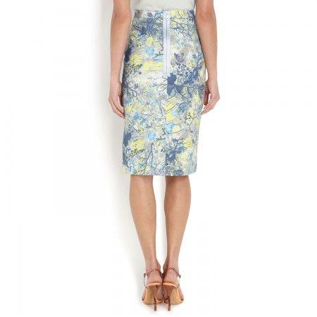 Erdem Aysha printed stretch twill pencil skirt - harvey nichols, london