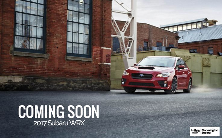 BLOG | Coming Soon 2017 Subaru WRX and WRX STI. Find the 2017 WRX at Luther Bloomington Subaru dealership Brooklyn Park MN. Minnesota Subaru dealership. Subaru WRX for sale near Minneapolis, MN. New WRX Twin Cities.