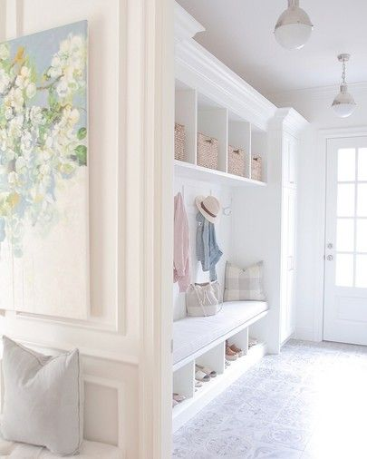 Same bench concept for mudroom