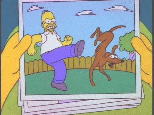 Homer Simpson vs Santa helper gif