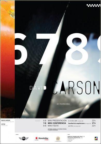 I used to love David Carson