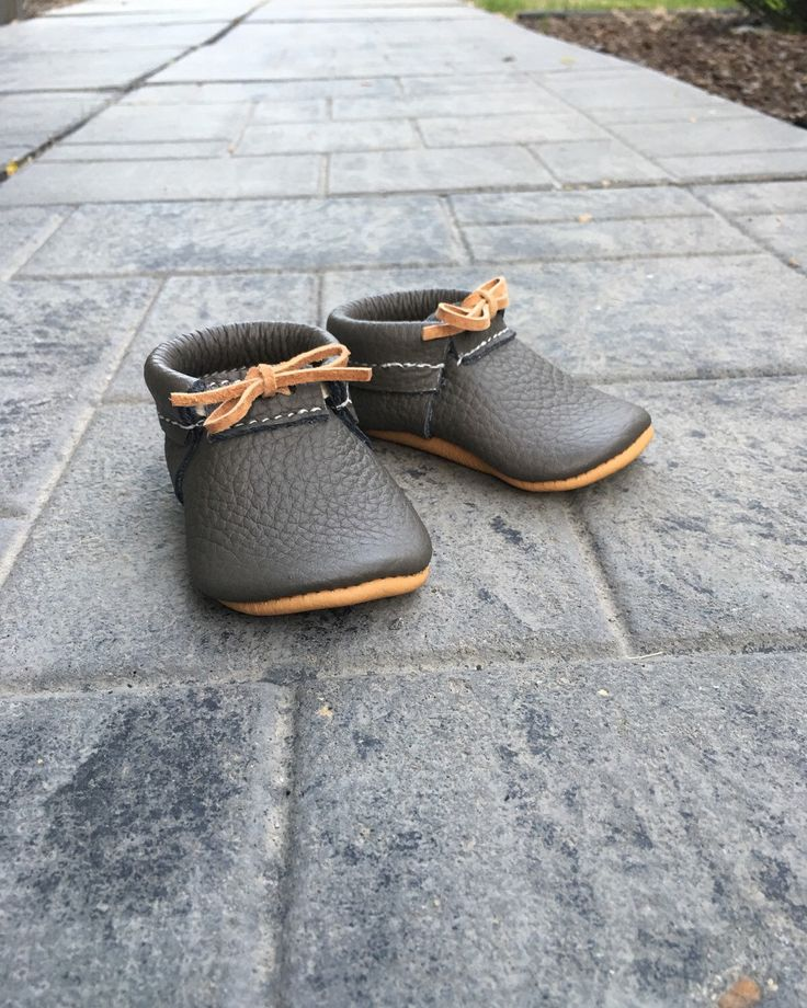 A personal favorite from my Etsy shop https://www.etsy.com/listing/281688964/the-charlie-moc-baby-mocs-unisex-mocs