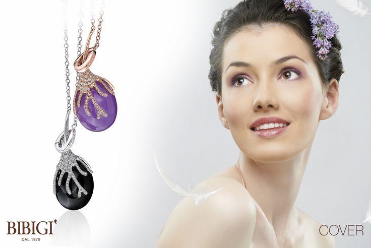 #Bibigi   Collezione #Cover   Collane in oro bianco, oro rosa, diamanti e pietre dure.