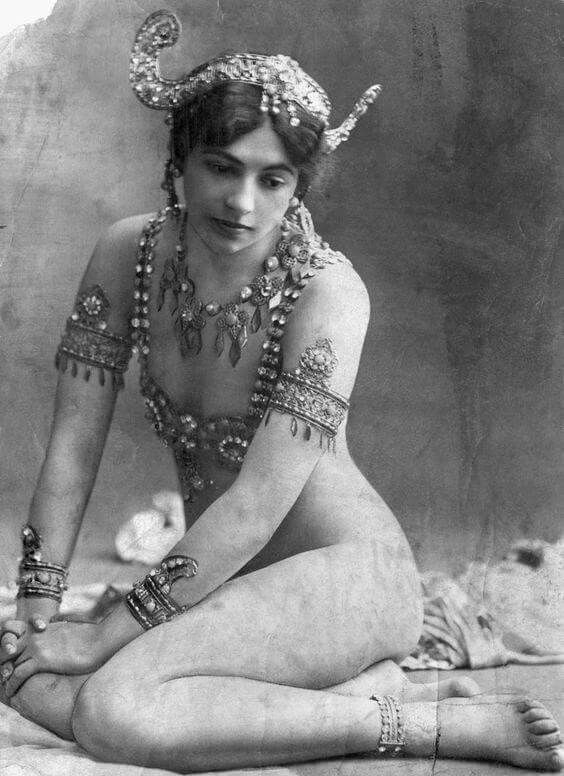 Mata Hari, circa 1907. On July 25, 1917, the Paris dancer was sentenced to death for spying for Germany during World War I. Her exotic and provocative routines brought her fame across Europe, and her lovers included military and political figures from France and Germany.