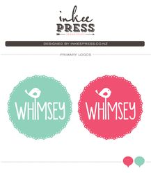 LOGOS - Inkee Press - New whimsical logo design for  WHIMSEY Vintage Hire & Events ~ Creating unforgettable vintage inspired events.