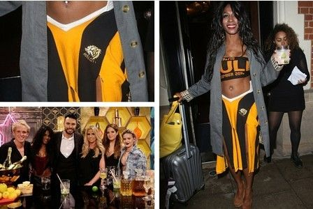 She is best known for being Simon Cowell's sidekick on the X factor but Sinitta is flying the flag for Hull City.    	The 80s pop princess sporting a Tigers themed outfit on the Channel 5 TV show...