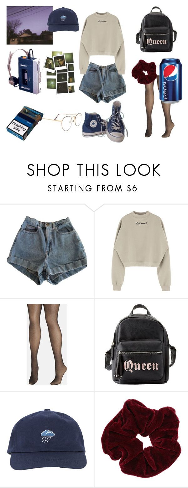 """""""emo 90s"""" on Polyvore featuring moda, American Apparel, Avenue, Charlotte Russe, Converse y Miss Selfridge"""