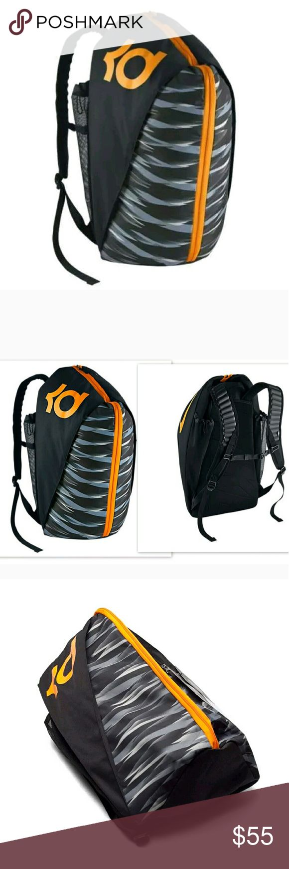 Brand new Nike Kd backpack Brand new with tags   EASY ACCESS! The KD Max Air VIII Basketball Backpack opens like a duffel bag. It's a cinch to access all your gear, thanks to separate compartments for your shoes and water bottle.   Opens like a duffel bag for easy access  Shoe compartment holds up to a size 15  Flyweave fabric is engineered for lightweight strength and durability  Adjustable padded shoulder straps keep you comfortable  Fuel pocket stores your water bottle  Product…