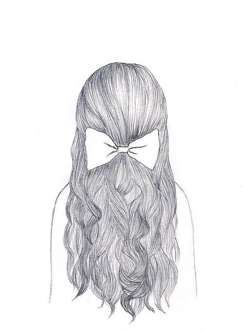 Tumblr Girl Hair Drawing