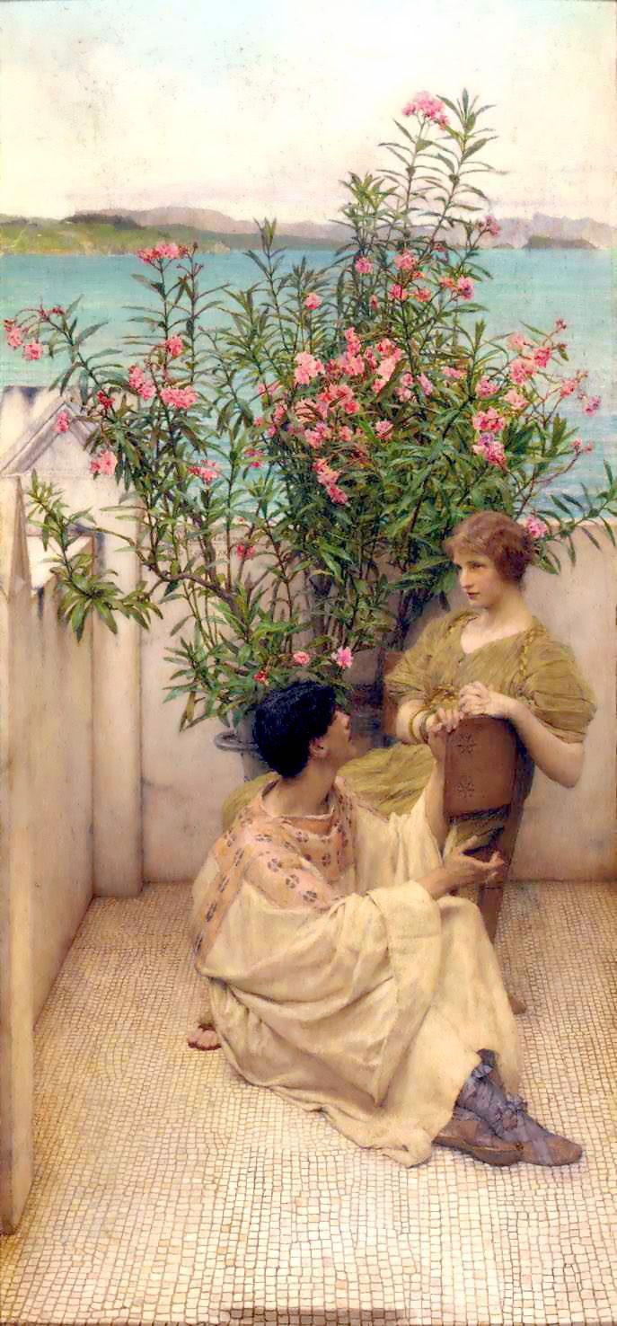 Alma Tadema Courtship. Alma-Tadema, Lawrence • download painting • Gallerix.ru