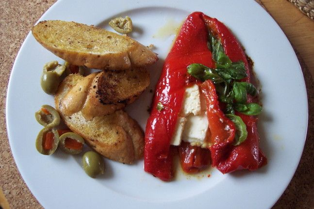 Plněná paprika balkánským sýrem