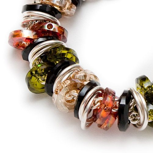 Shift Bracelet – Coloured Crystals | Lisa Ridout Exclusive Jewellery