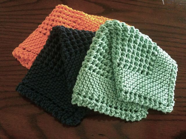 Free Crochet Pattern For Diagonal Dishcloth : Diagonal Knit Dishcloth pattern by Jana Trent. Knit ...