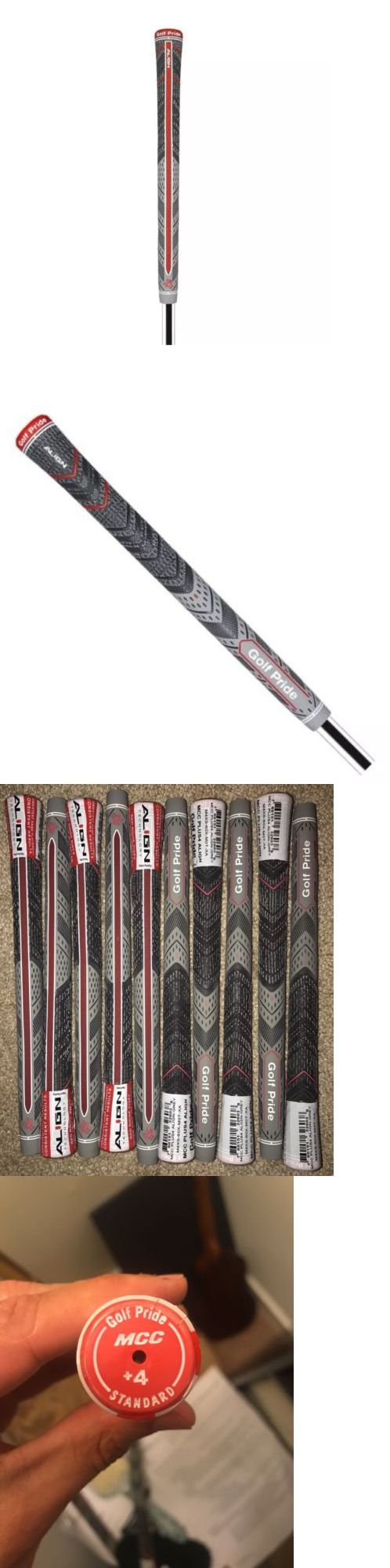 Golf Club Grips 47324: 10X Golf Pride Mcc Plus 4 Align Grips Grey Standard Size. Free Shipping!!! -> BUY IT NOW ONLY: $75 on eBay!
