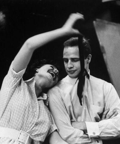 Marlon Brando + Jean Simmons rehearsing for Guys and Dolls, 1955