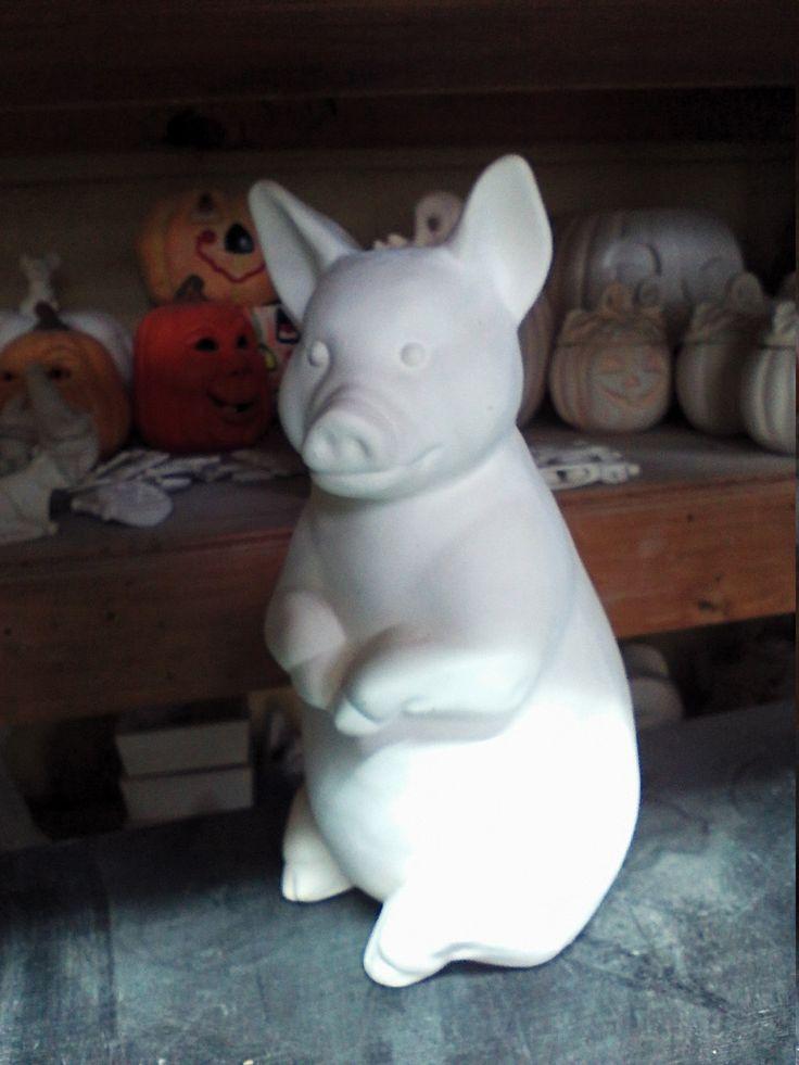 Diy ceramic piggy bank pig piggy bank ceramic you paint for How to paint a ceramic piggy bank