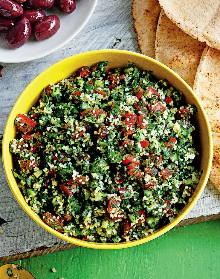 Tabouli salad, This salad is delicious on its own, but it's also fantastic to serve as a side for lamb or fish dishes. #Woolworths #recipe #middleeastern http://www.woolworths.com.au/wps/wcm/connect/Website/Woolworths/FreshFoodIdeas/Recipes/Recipes-Content/taboulisalad