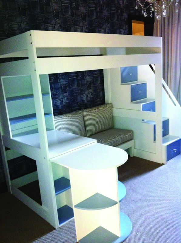 Trendy Queen Loft Bed With Desk, Bunk Bed With Desk And Couch Underneath