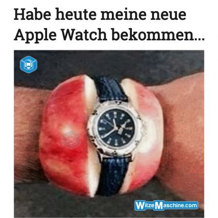 Apple Watch lustig - Apple Watch Fail - Apfel Uhr