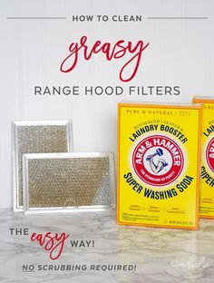 Cooking at home is great, though all those meals take a toll on your range hood filters and leave them a greasy mess. With ARM & HAMMER™ Super Washing Soda™, squeaky clean range hood filters can be yours in under 15 minutes with NO SCRUBBING required!