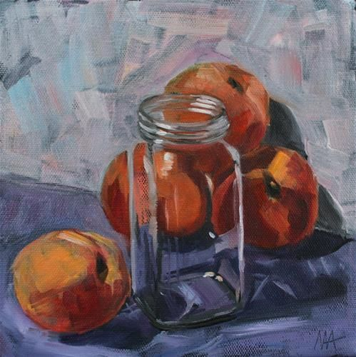 Canned Peaches - Original Fine Art for Sale - © by Aniko Makay