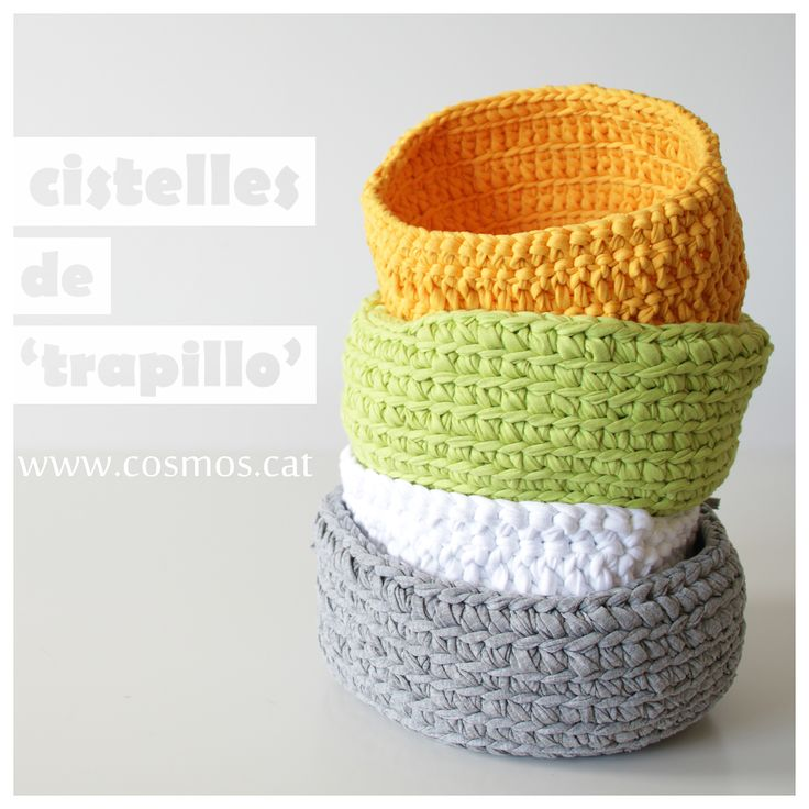 921 best Cestas Bonitas !!!!Tejidas y de Crochet, etc... images on ...