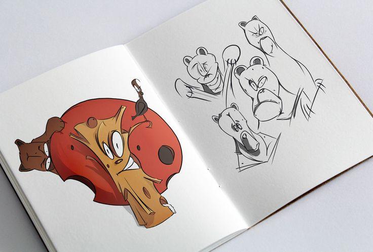 Digital, 2D, Animation, Comic, Art, animation, Skeatch, Skeatchbook, animal, art, grafity