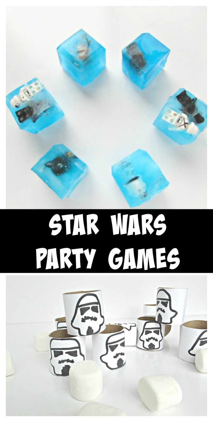 Star Wars Party Games. Fun games for a Star Wars party! #StarWars #partyideas
