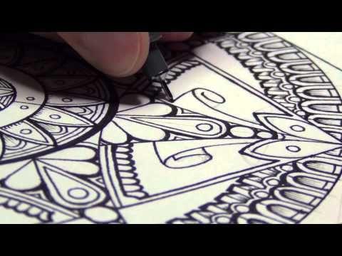 A Mandala (And Drawing Mindsets) - YouTube