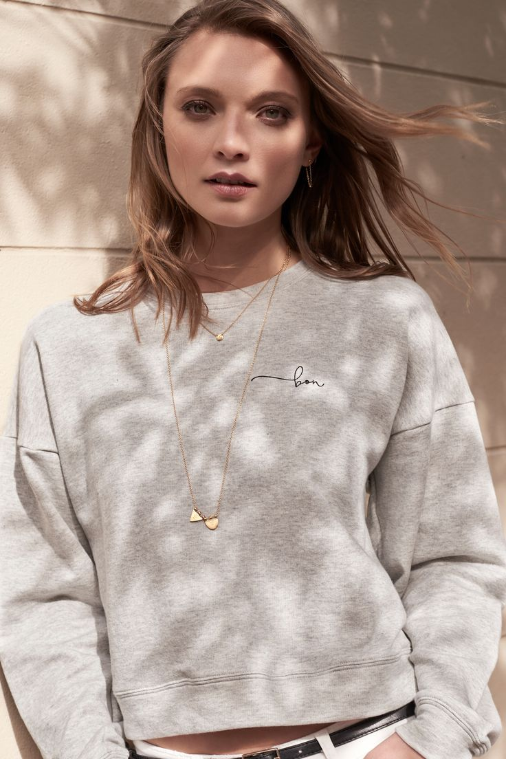 The bon Drop Shoulder Sweater by bon label. Autumn 17 collection. organic. ethical fashion. made in australia. inspired by paris. good for womankind.   grey, sweater, jumper, essentials, organic, cotton, parisian style    SHOP bonlabel.com.au