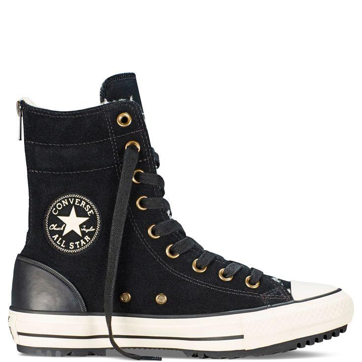 Womens Chuck Taylor Hi-Rise Boot Black/Egret/Natural black/egret/natural