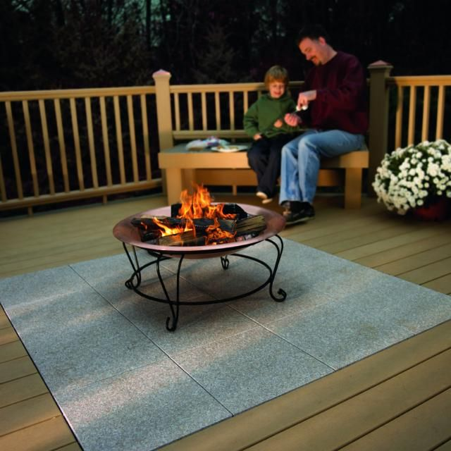 wood deck with stone inlay - Google Search