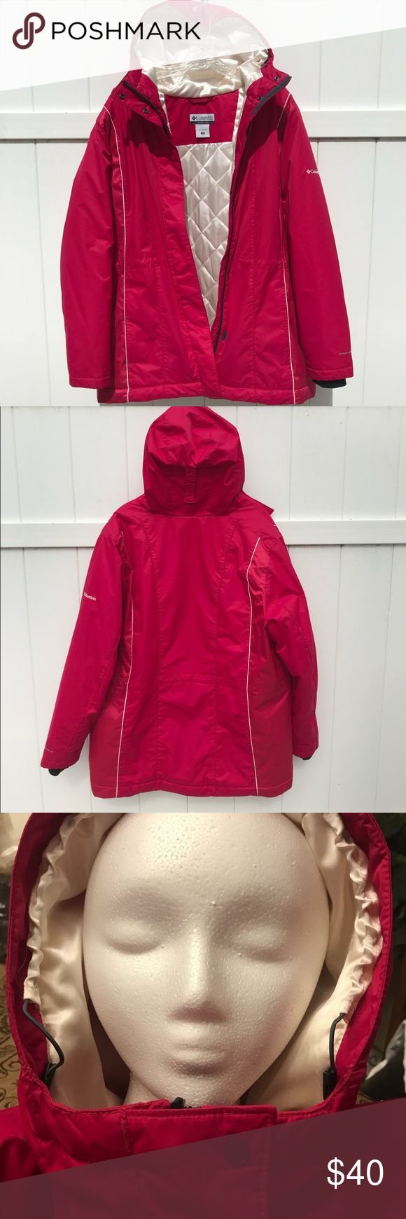 Ladies Columbia Omni-Shield Quilted Down Jacket ~EXCELLENT preowned condition (area of minor piling inside of coat )~ Women's 1X - Plus Size Fuchsia in color  Combine Omni-Shield advanced repellency,&Omni-Heat thermal reflective make this jacket super toasty to keep you warm in cold weather; feminine design lines and buttery soft sateen fabric mean it's also perfect for everyday wear   Omni-Heat thermal reflective Wind proof Highly water resistant  Drawcord adjustable hem & hood  Waterproof…