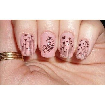 hearts, hearts, hearts!!!: Love Nails, Heart Nails, Nails Art, Nails Design, Pink Nails, Pretty Nails, Pale Pink, Nails Ideas, Heart Design