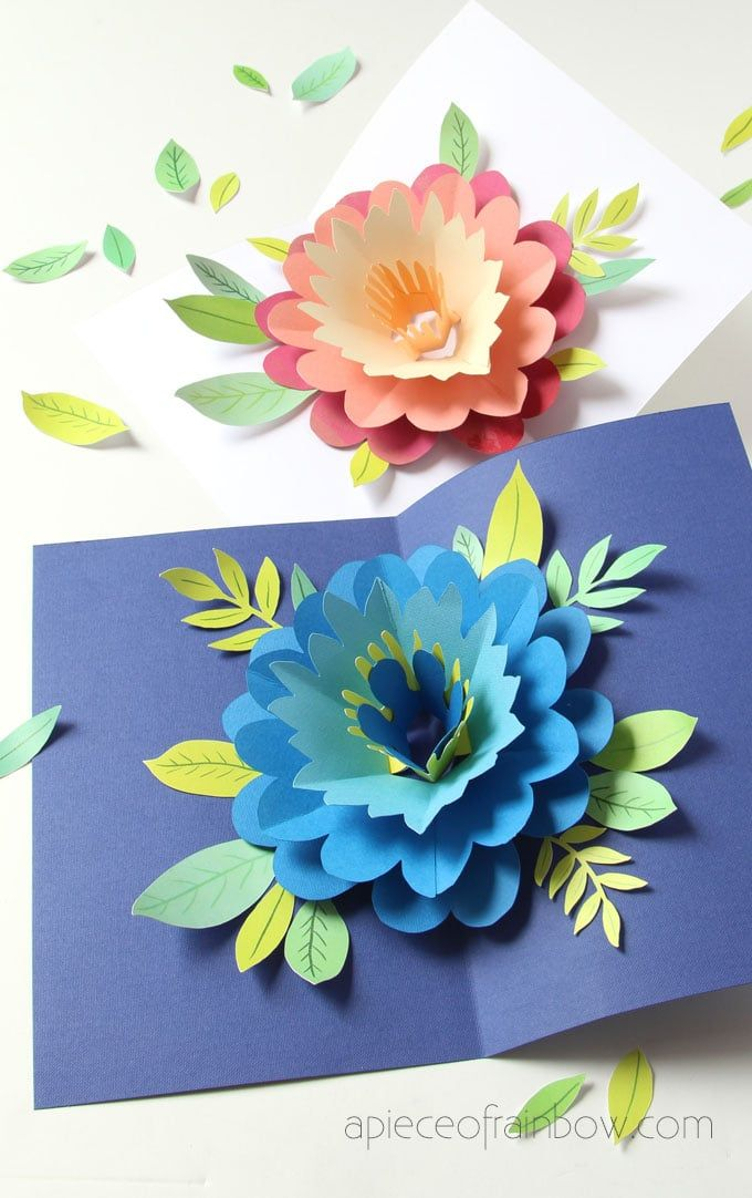 Diy Happy Mother S Day Card With Pop Up Flower In 2020 With