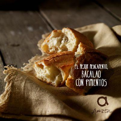 El mejor medicamento, bacalao con pimientos. #RefranesAmeztoi #comidacasera #refranes