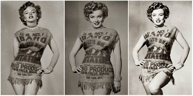 The Story of Marilyn Monroe and the Potato Sack Dress, c.1951 ~ vintage everyday