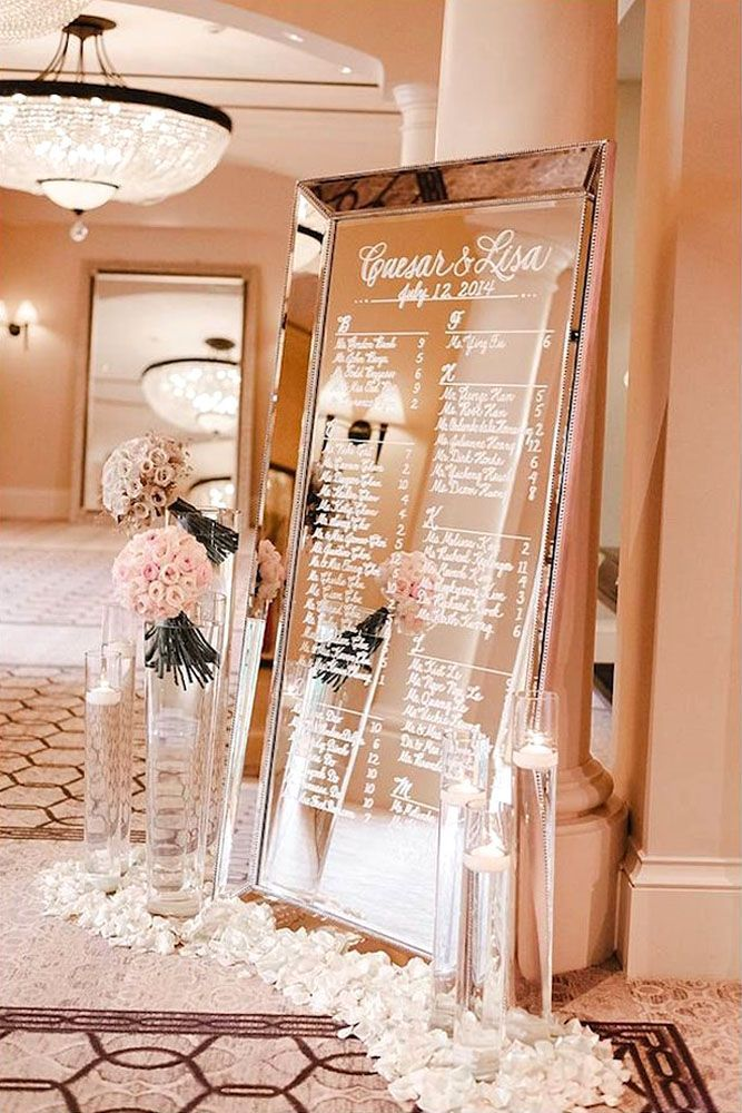 18 Fabulous Mirror Wedding Ideas ❤ Mirror wedding decorations give your reception a touch of luxury and elegance. Here are some mirror wedding ideas for fairy-tale look. See more: http://www.weddingforward.com/mirror-wedding-ideas/ #wedding #decorations #ideas