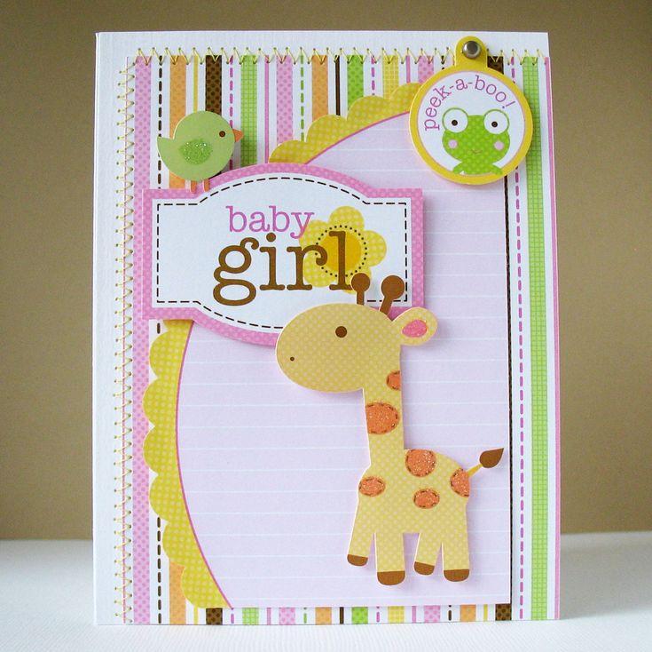 Card-Blanc by Kathy Martin: Baby Girl