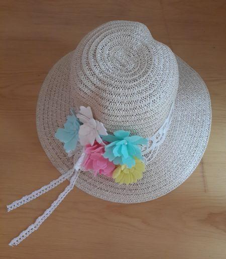 Pastel Renkli Çiçekli Hasır Şapka