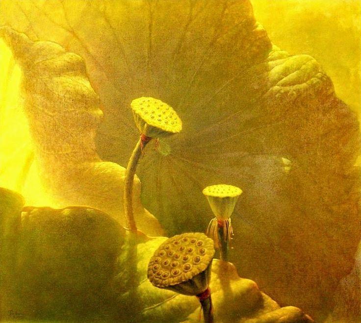 Jiang Debin, 1963 ~ Lotus watercolor