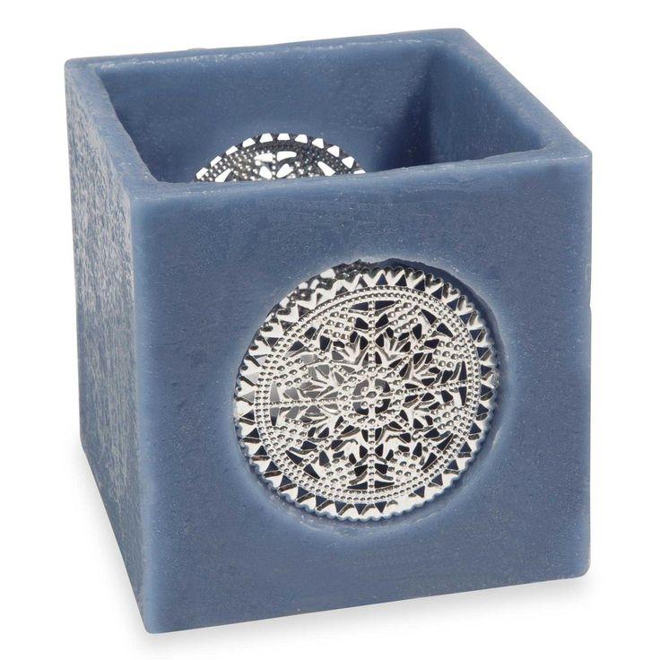 Bougie carrée bleue EGEE