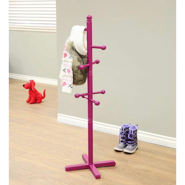 8-Hooks Kid's Coat Rack in Purple