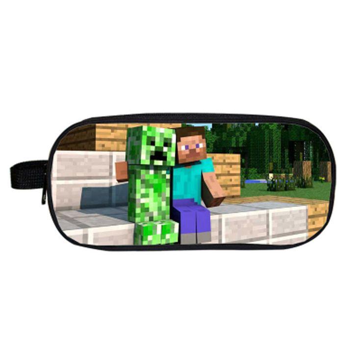2017 Minecraft My World Pencil Case Bag for Boys Girls School Stationery Gift Kawaii Game Pencilcase Pen Box School Supplies