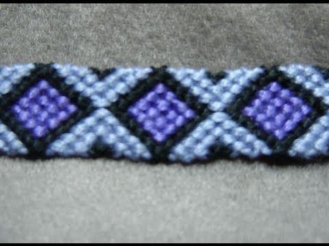 ► Friendship Bracelet Tutorial 9 - Intermediate - Diamonds (ORIGINAL PATTERN)
