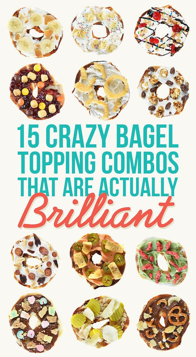 15 Trashy Bagel Topping Combos That Are Actually Brilliant