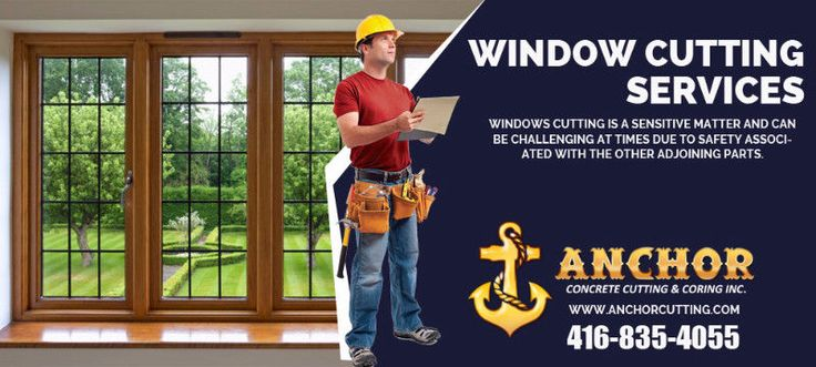 Anchor Concrete Cutting and Coring Inc. have extensive #experience in precisely #handling #Window #Cutting #Services in #Brampton. Our team of #skilled #technicians always ensures that the trimming part has #efficiently done. Connect with us:- 416-835-4055 #WindowCutting #cuttingsevices #WindowcuttingBrampton